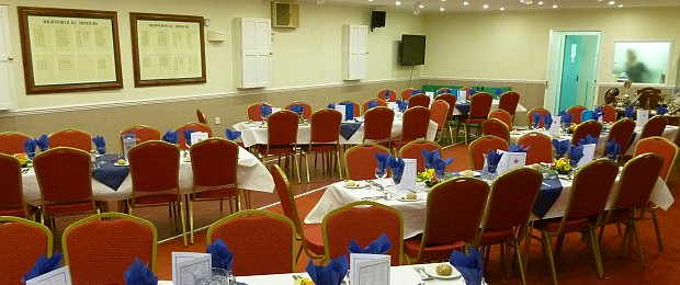 Club interior ready for annual dinner