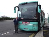 Danny our driver and our Team Coach on Brighton seafront en route to Sunday`s match